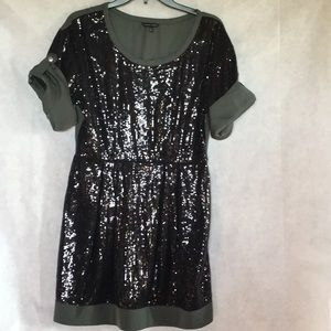 Naked zebra with sequins party dress size large